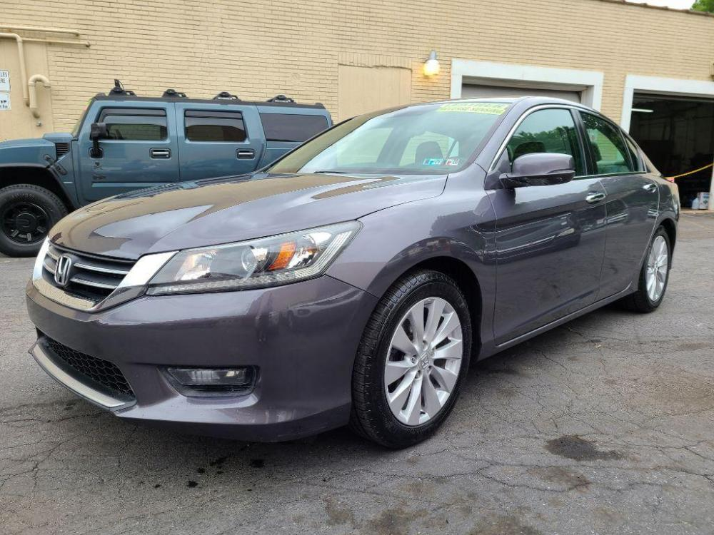 2014 GRAY HONDA ACCORD EXL (1HGCR2F88EA) with an 2.4L engine, Continuously Variable transmission, located at 7981 Paxton Street, Harrisburg, PA, 17111, (717) 561-2926, 40.261490, -76.749229 - Photo #0