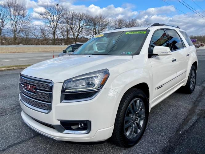 2014 WHITE GMC ACADIA DENALI (1GKKVTKD6EJ) with an 3.6L engine, Automatic transmission, located at 7981 Paxton Street, Harrisburg, PA, 17111, (717) 561-2926, 40.261490, -76.749229 - Photo #0