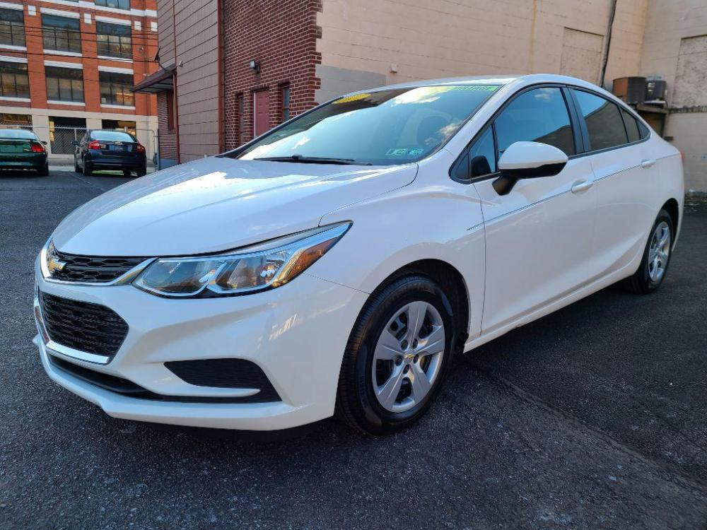 2017 WHITE CHEVROLET CRUZE LS (1G1BC5SM2H7) with an 1.4L engine, Automatic transmission, located at 7981 Paxton Street, Harrisburg, PA, 17111, (717) 561-2926, 40.261490, -76.749229 - Photo #0