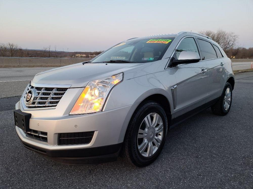 2015 SILVER CADILLAC SRX LUXURY COLLECTION (3GYFNBE36FS) with an 3.6L engine, Automatic transmission, located at 7981 Paxton Street, Harrisburg, PA, 17111, (717) 561-2926, 40.261490, -76.749229 - Photo #0