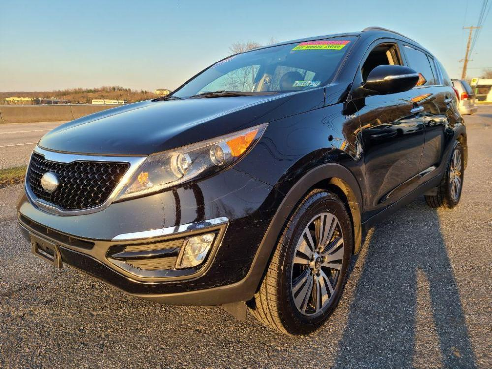 2014 BLACK KIA SPORTAGE EX (KNDPCCAC1E7) with an 2.4L engine, Automatic transmission, located at 7981 Paxton Street, Harrisburg, PA, 17111, (717) 561-2926, 40.261490, -76.749229 - Photo #0